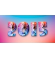Abstract creative concept Happy New Year vector image