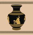 ancient greek man blacksmith vector image