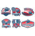 badminton badge design set vector image