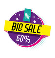 big sale shopping poster memphis style vector image