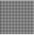 Black-white houndstooth background -seamless vector image vector image