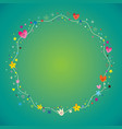 blank banner frame border with nature design eleme vector image vector image