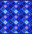 blue geometrical diagonal square mosaic tile vector image vector image