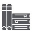 books glyph icon school and learning literature vector image