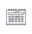 calendar planning line icon concept calendar vector image