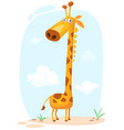 cartoon cunny giraffe character vector image
