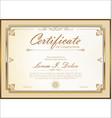 certificate 03 vector image vector image