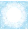 christmas card snowflakes frame vector image