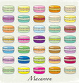 Colorful macaroon set vector image vector image