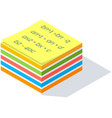 colorful sticker for writing important working vector image