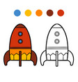 coloring book for kids spaceship vector image vector image