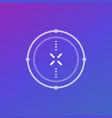 crosshair aim modern design for ui vector image