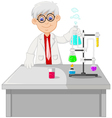 cute a professor conducting chemical practice vector image