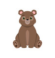 cute little bear lovely animal cartoon character vector image