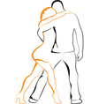 Dancing man and woman vector image