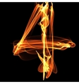 digit in fire vector image