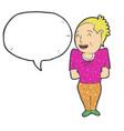 digitally drawn women and speech bubbles design vector image vector image
