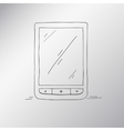 e-book hand-drawn an electronic device for reading vector image vector image