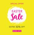 easter sale banner design vector image vector image