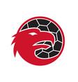 european eagle handball mascot vector image vector image