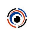 eyeball vision abstract icon logo vector image vector image