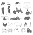 Farming Two-color Icon Set vector image vector image