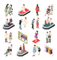 fashion industry isometric icons vector image vector image
