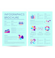 financial brochure with indicators diagrams vector image vector image
