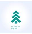 fir-tree logo vector image vector image