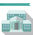 Flat design modern of city hall building icon with vector image vector image