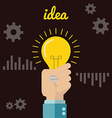 Flat style modern idea innovation light bulb vector image