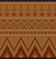 geometric abstract knitted pattern autumn vector image