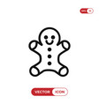 gingerbread icon vector image vector image