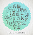 Hand drawn fonts vector image vector image