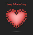 happy valentines day heart from the bicycle wheel vector image