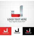 hi-tech trendy initial icon logo j vector image vector image