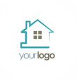 home realty logo vector image vector image
