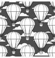 hot air balloon little balloons clouds vector image