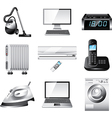 icons technic home vector image