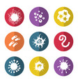 immune bacteries and infection microbes icons vector image vector image