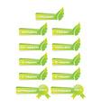 leaf green banner set vector image vector image