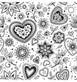 Love hearts seamless pattern 4 vector image vector image