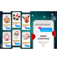 merry christmas stories template with xmas vector image