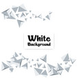 modern gray polygon white background image vector image