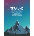 mountains amazing view vector image vector image