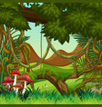 natural jungle background scene vector image