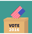 President election day Vote 2016 Ballot Voting box vector image vector image