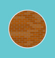 red brick wall icon isolated on background modern vector image vector image