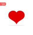 red heart healthy love symbol icon vector image vector image
