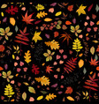seamless autumn pattern floral watercolor style vector image